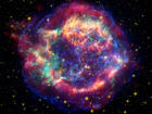false-color picture shows off the many sides of the supernova remnant Cassiopeia