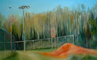 Dirt Pile, Oil on Canvas, 10 x 16 in., 2009