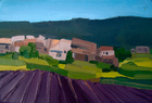 Lavender Fields, Provence, Oil on Canvas, 4 x 6 in., 2008