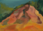 Roussillon Ochre Quarry, Oil on Canvas, 5 x 7 in., 2008