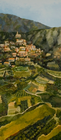 Bonnieux, Oil on Canvas, 33 x 15 in., 2007