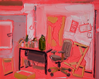 Phil's Studio, Oil on Canvas, 8 x 10 in., 2009