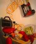 Still Life With Nail Gun, Oil on Canvas, 27 x 22 in., 2009