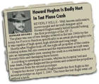 Newpaper clipping of Howard Hughes