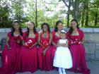 A few of the bridesmaids including myself