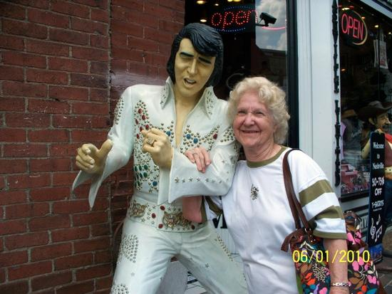 Mom and Elvis