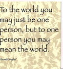 One person...
