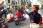 Skid Row Families wait for Shelter to Open