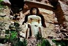 BINGLIN TEMPLE Grottoes located 80 km sw Lanzhou is on the SILK ROAD