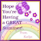 hope you are having a great summer