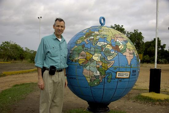 Michael with Globe & Uganda