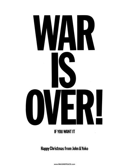 War Is Over Merry Christmas