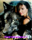 Chey and Her Beautiful Black Wolf!!!