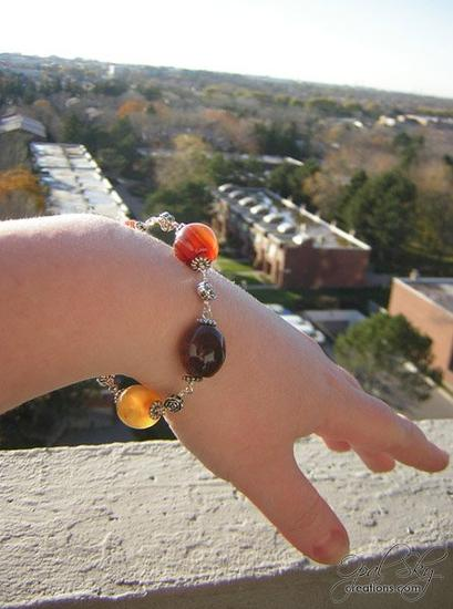 Dream Agate bracelet- modeled