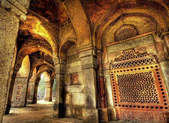 This is Sikandar Lodi's tomb at the Lodi Gardens, Delhi