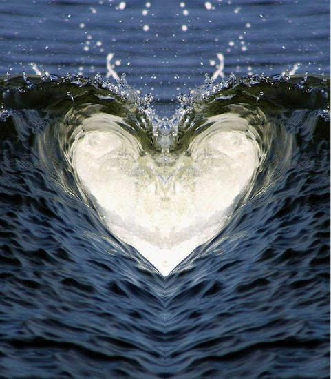 Water Heart mirrored