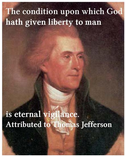 Jefferson on Vigilance