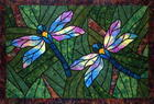 Dragonflies (stained glass)