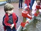 Andy by the water pumps