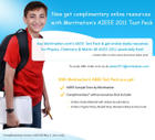Complimentary online resources with Meritnation's AIEEE Test Pack