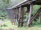 Railway trestle bridge