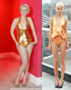 The stunning size 12 model branded 'too fat' for TV competit ...