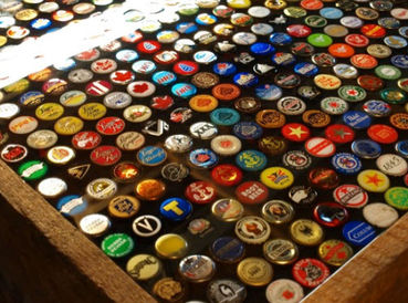 DIY Bottle Cap Tables And Boot Scraper