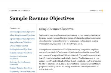 sample resume objectives care2 news network