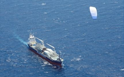 Giant Kites Help Shipping Company Cut Carbon