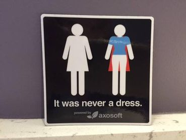 The Women's Bathroom Sign You Can't Unsee (And Won't Want To)