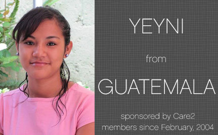 Progress Report – Yeyni, Care2 Sponsored Child