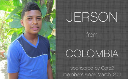 Update from Jerson, Care2 Sponsored Child