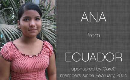 Update from Ana, Care2 Sponsored Child