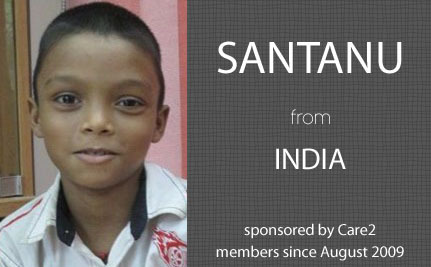 Update From Santanu, Care2 Sponsored Child
