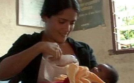 Salma Hayek's Generous Breasts