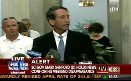 FAUX NEWS: Governor Sanford is Suddenly a Democrat Now That He Had an Affair!