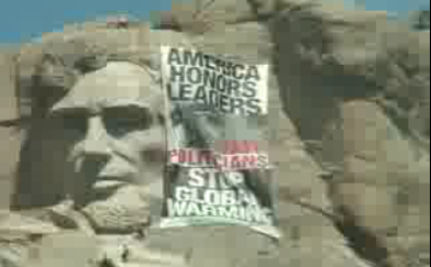 Greenpeace Activists  Occupy Mount Rushmore