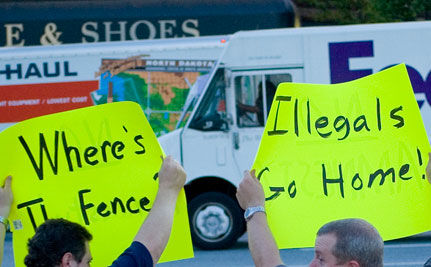 It's a Scary World: Immigration Opponents Teaming with Tea Party Activists