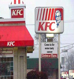 KFC Peddling Cancer-Causing Food in Pink Buckets