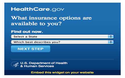 HHS Unveils Interactive Insurance-Finder Widget