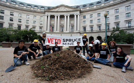 "Activists Dump ""Mountain"" Of Coal Waste On EPA's Front Lawn"