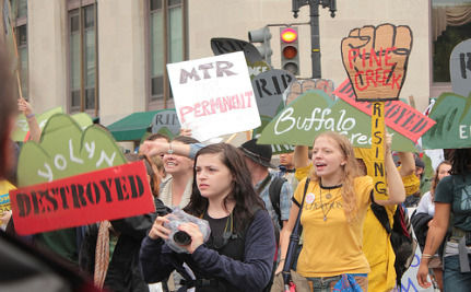 Protest Brings Consequences Of Coal Mining To The Fed's Doorstep