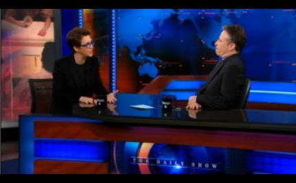 Did Jon Stewart Equate MSNBC With FOX? Maddow Will Ask Him Tonight