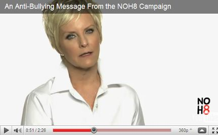 Cindy McCain Hits Out at DADT in NOH8 Anti-Bullying PSA (VIDEO)