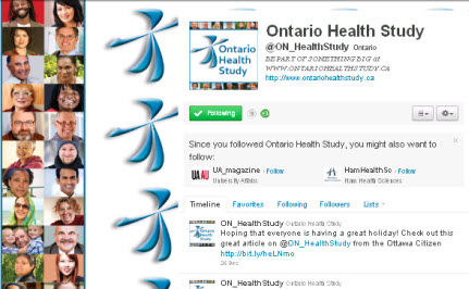 Ontario Recruiting for Massive Health Study
