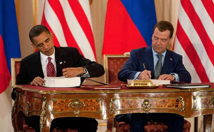 U.S. and Russia Sign START Treaty to Reduce Nuclear Weapons