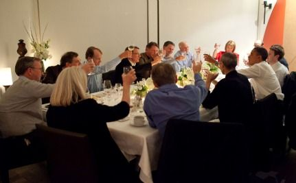 Obama, Steve Jobs, Mark Zuckerberg and the other Guys (and ONE Woman) at Dinner