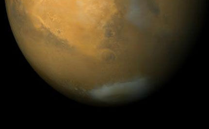 Scientists Discover Vast, Frozen CO2 Deposit on Mars