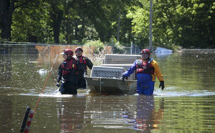 Rescuing Animals as Flood Waters Crest