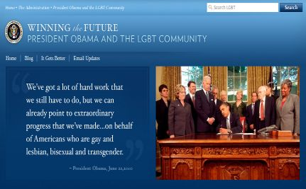 White House Launches LGBT Issues Page